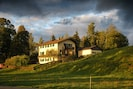 Chiemsee-Ferienhaus in autumn from west southwest.