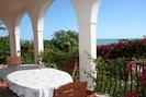 Veranda overlooking the sea