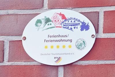 Unser Ferienhaus wurde vom Tourismusverband mit 5-Sternen ausgezeichnet!