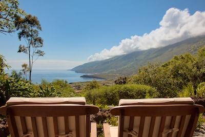 Refúgio do Pico - Meerblick von der Terrasse