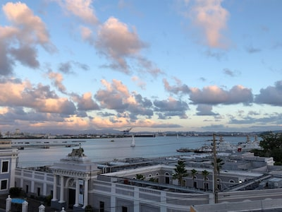 View of San Juan Harbour from the balcony