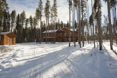 Feel secluded on large lot, yet just minutes to town, store, the resort, and much more.