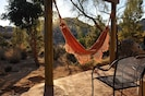 Watch the sun rise in our East facing hammock.