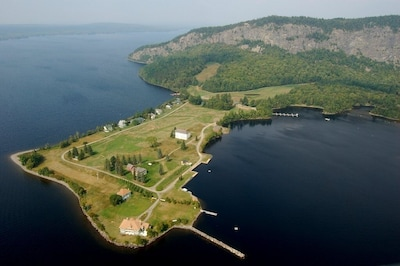 Aerial view of peninsula