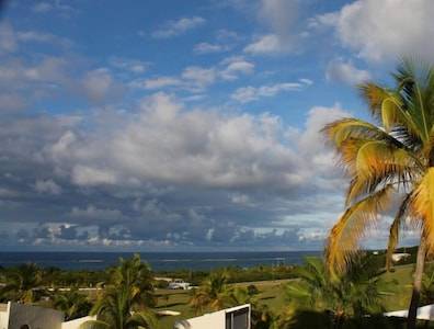 The view from the upper bedroom is pure Caribbean art.