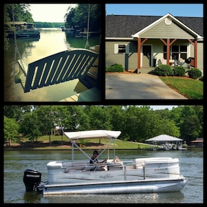Enjoy an evening on the swing or on the pontoon boat!