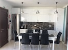The kitchen in the open plan
