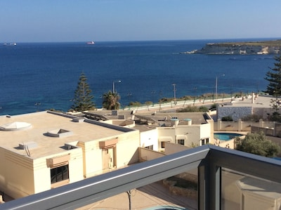 Sea view from front terrace