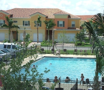 Pool is located very close to townhome