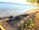07/21 Early morning. Steps down to sand. Just a few feet in front of our lanai.