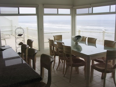 Upstairs dining room in open area/kitchen, seats 12