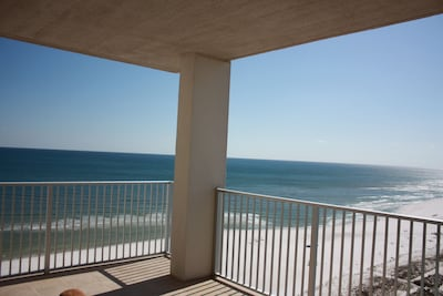 Expansive south and west views; 180 degrees of Gulf, shoreline and bay!
