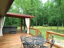 Hot Tub porch and deck with dining and grill