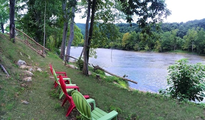 Private riverfront at MoonDance