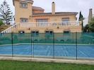 Safety surround can be removed if not required. Cover for heated pool