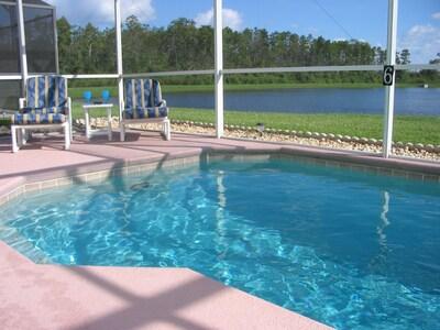 South-facing pool