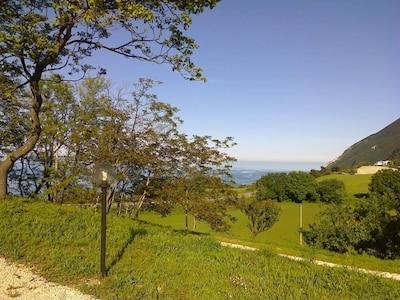 Sicht vom Haus zum Meer von Portonovo