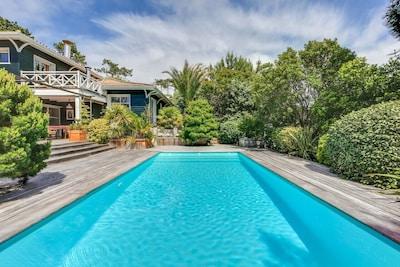 vue de la maison depuis la piscine