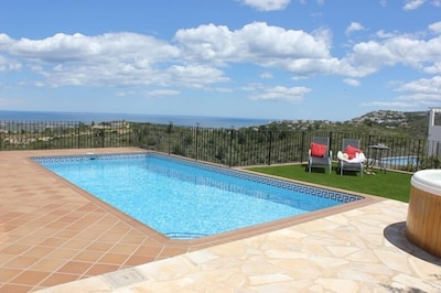 Pool,  terrace area and the views! May 2013