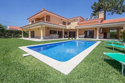 Villa Moderna Grande E Bella Per 10 Persone Con Piscina E Giardino Ad Azeitao Sao Simao