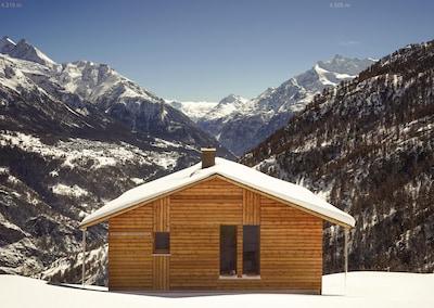 Chalet mit Blick genau ins Zermatter Tal