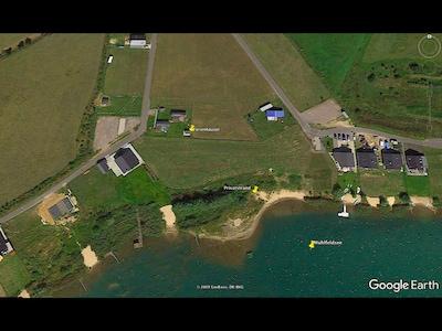 Luftbild- Ferienhäuser ca. 60m vom Strand
