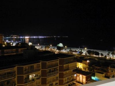 Nächtlicher Ausblick vom Balkon