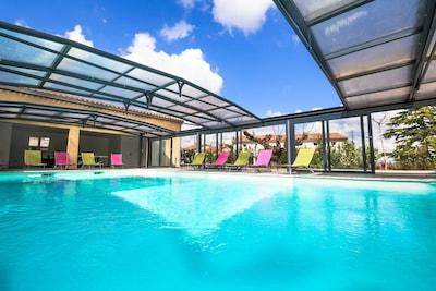 la piscine du Séjour Ardéchois