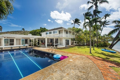 Views from the yard of the beautiful, historic Hale Kai.