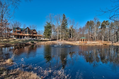 Check Out The Views Of The Pond And Fountain Along With The Gazebo And Chalet!