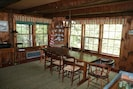 Dining room easily seats eight, with views of Caspian Lake