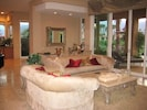 Open living Room with sliding doors to the pool area