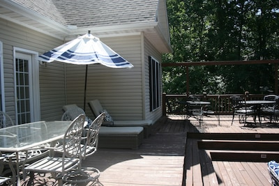 side view of back deck