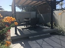 Shaded dining deck