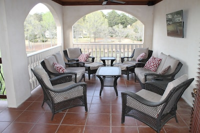 Enjoy your outdoor patio with TV and Stereo overlooking the lake