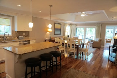 Completely renovated cottage with open floor plan and plenty of space.