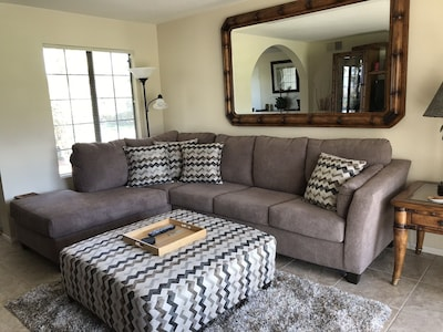 New Sectional and Ottoman in Living Room