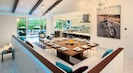 Dining for 12-20 people.  Open plan flows from kitchen to dining and living