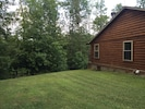 Wooded/grass side yard