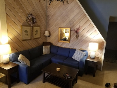 Our cozy living room area with plenty of seating space