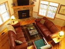 Living room view from the loft