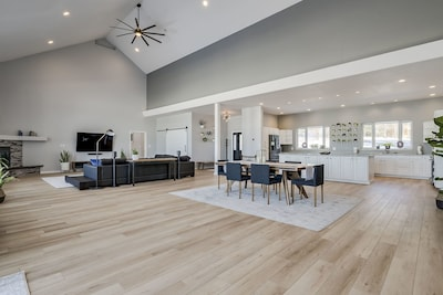 Dining/kitchen/living area
