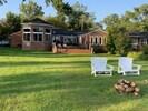 Plenty of space for lawn games.  Next door: Sunset Cottage, LLC Vrbo 183706