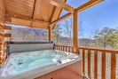 Private Hot Tub with view of Smoky Mountain National Park