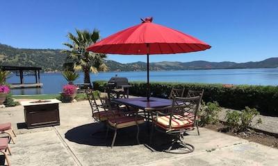 Lakefront patio