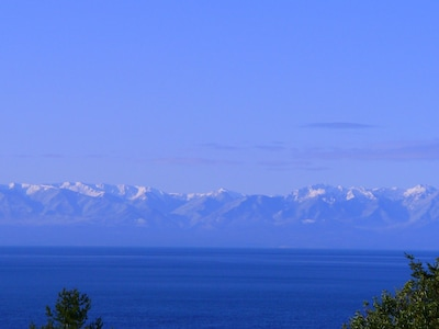 The Olympic Mountains look awesome form Haro Haiku