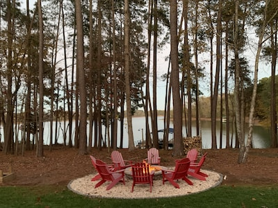 Lake views and large fire pit