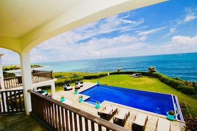 Sea view from bedroom balcony.