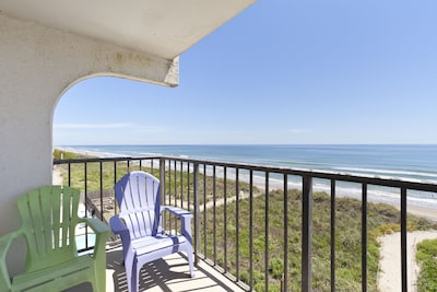 Gorgeous beach front views from balcony.