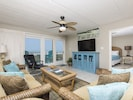 Spacious living area with ocean views!